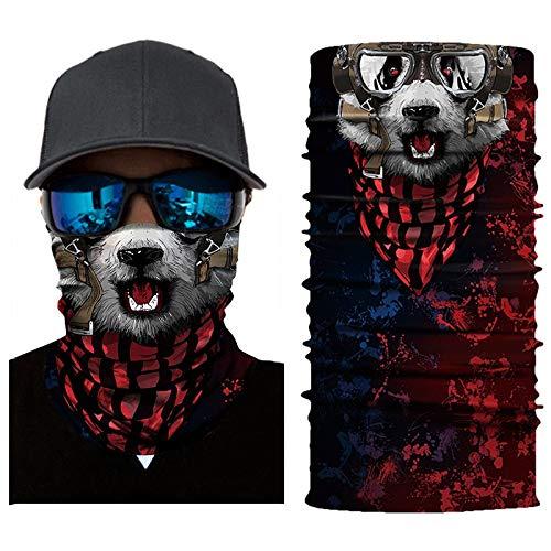 Palalibin Cycling Motorcycle Head Scarf Neck Warmer Face Mask Ski Balaclava Headband (B, Free)