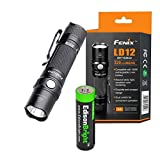 Fenix LD12 320 Lumen 2017 version LED Tactical Flashlight with EdisonBright AA alkaline battery