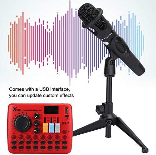 ASHATA Scheda Audio Set Microfono per Telefono Cellulare Bluetooth 5.0 Connessione Wireless Scheda Audio