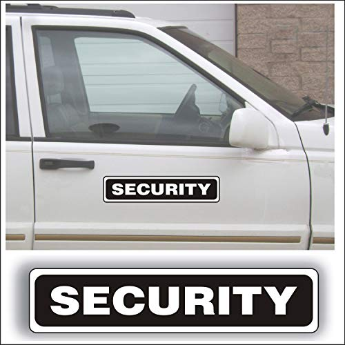(Magnet Magnetic Sign - Security for Grounds Patrol Guard Police Vehicle, Car or Truck - 3 x 14 inch Block Sold as Each)