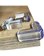 Protectores de esquinas transparentes (20 unidades) para la seguridad del bebé desde las esquinas de la mesa, el mejor parachoques de esquina de muebles de alta resistencia, funda de cojín de goma a prueba de niños, fundas de plástico