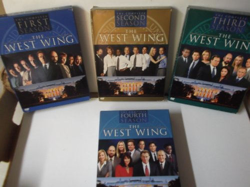 The Complete 1-4 Seasons of West Wing... 4 Cases with 18 Dvds