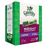 GREENIES Weight Management Dental Large Dog Treats - Treat TUB-PAK Package 27 oz. 17 Treats