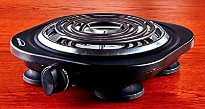 Uniware Portable Electric Cast Iron Burner, Perfect for all occasions, Black