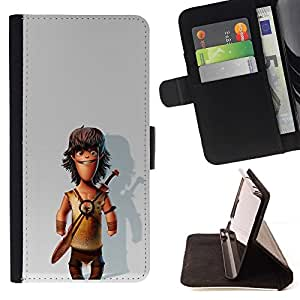 Momo Phone Case / Flip Funda de Cuero Case Cover - Comic Caveman Snow 3D - MOTOROLA MOTO X PLAY XT1562