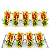 Ejoyous Taco Holder Stand, Stainless Steel Kids Taco Rack for Hard or Soft Shell Tacos, Hold 4-5 Tacos Each, Dishwasher Safe - 2 Pack