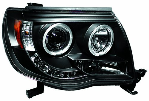 IPCW CWS-2040B2 Toyota Tacoma 2005 - 2011 Head Lamps, Projector With Rings Black   B0071CSK3Y