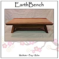 EarthBench Shrine Table - Large-sized Petite Floor Altar (7 inches tall ~ 23.5 by 13.5) - Solid BUTTERNUT (White Walnut) Construction for Meditation, Prayer, or Contemplative Studies.