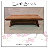 EarthBench Shrine Table - Large-sized Petite Floor Altar (7'' inches tall ~ 23.5'' by 13.5'') - Solid BUTTERNUT (''White Walnut'') Construction for Meditation, Prayer, or Contemplative Studies.