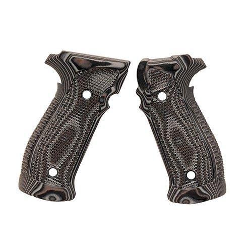 Hogue 23137 Sig P226 Grips, Da/SA Magrip Pirahna G10 G-Mascus Black/Gray