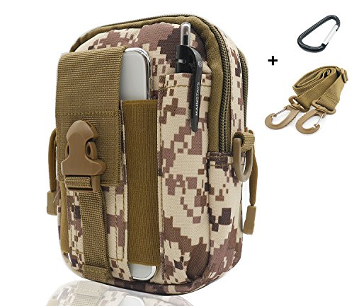 - SEVENPICKS Tactical Waist Pack Multi Purpose Bag EDC Pouch Utility Upgraded Version with Strap Camping Hiking Pouch Nylon Cell Phone Bag(Camouflage)