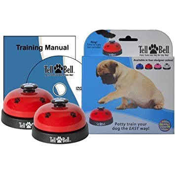 Amazon Tell Bell Red Pet Door Doorbells Pet Supplies