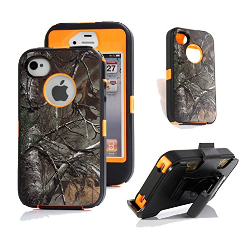 Shockproof Armor Case iPhone 4/4s (Orange) - 3