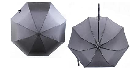 New Arrival Samurai Katana Shape Umbrella Designed with Comfortable Samurai Sword Handle (Black) (