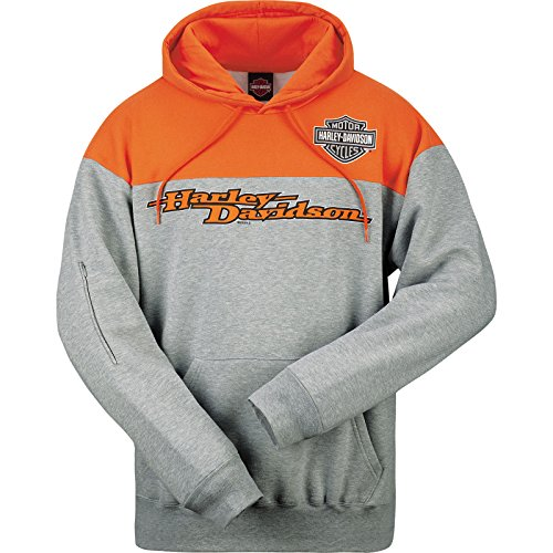 - Harley-Davidson Pullover Hooded Sweatshirt With Tech Pocket - Overseas Tour | Block H-D MD