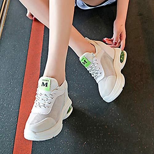 Verde PU Donna 5 TTSHOES Primavera EU38 UK5 CN38 Polacche 5 Bianco Green Punta Comoda Poliuretano Scarpe US7 Estate Sneakers Per Footing Retato Arancione Tonda qpIwCxaw