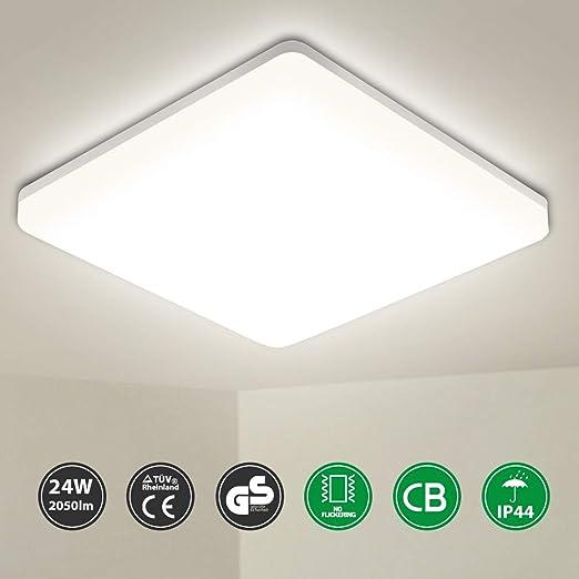 Lámpara LED de techo para baño de Oeegoo, 24 W, IP44 ...