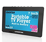 LEADSTAR 7 Inch Portable Small Digital ATSC TFT HD Screen Freeview LED TV for Car,Caravan,Camping,Outdoor or Kitchen.Built-in Battery Television/Monitor with FM, Multimedia Player Support USB Card