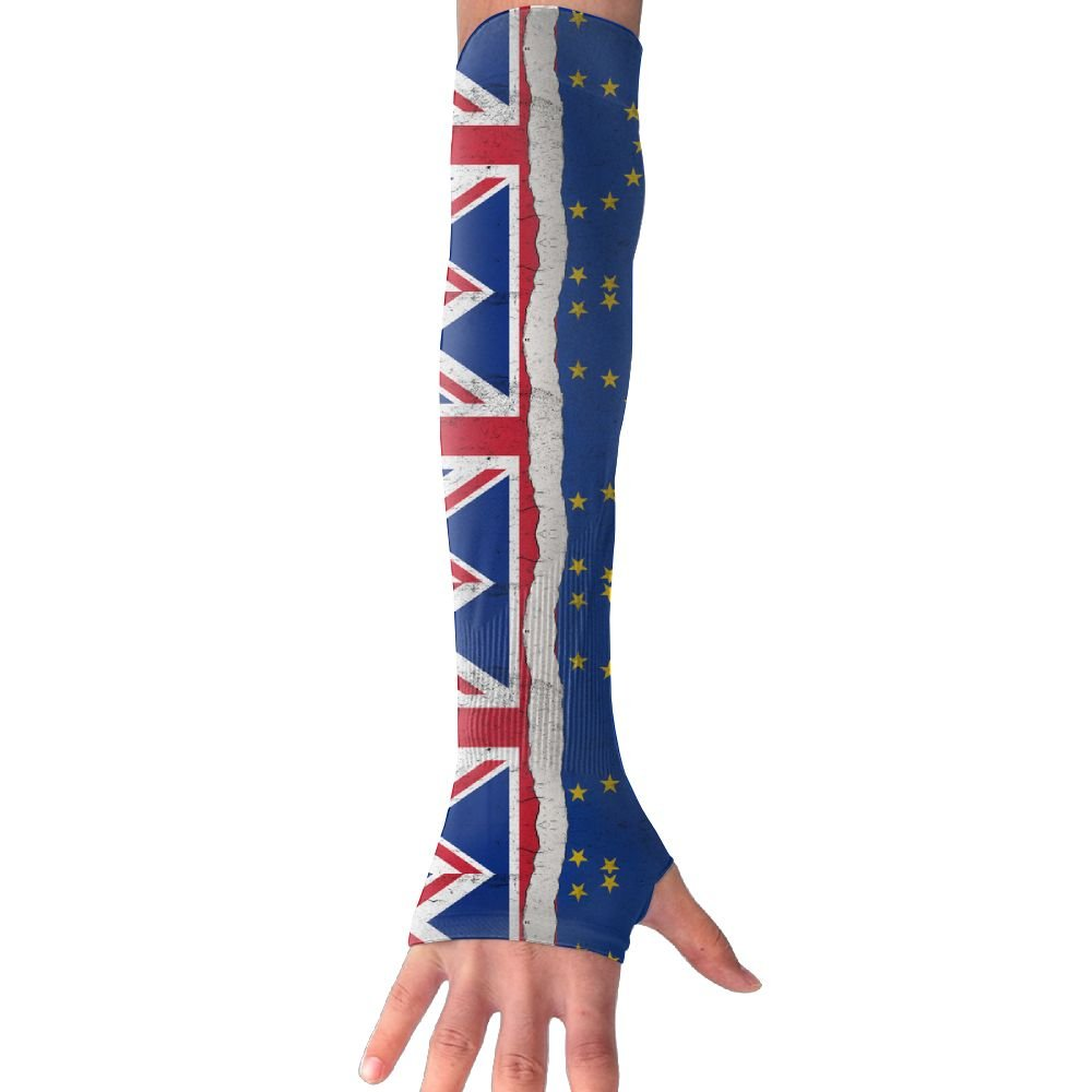 Unisex Brexit England Flag Vintage Style Sunscreen Outdoor Travel Arm Warmer Long Sleeves Glove