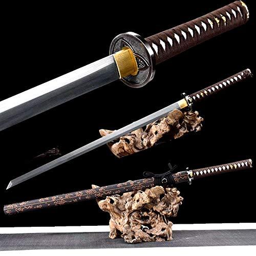 Samurai Battle Straight Dao 1090 High Carbon Steel Blade Sharp Japanese Ninja Sword Katana Full Tang Handmade Asian Saber Knife