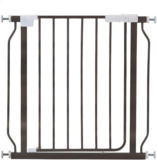 Barandillas De Seguridad para Bebés Valla De Aislamiento Barandilla para Puerta Barrera para Escaleras para Mascotas Puerta De Metal Extensible, Color Chocolate, Altura 70,5 Cm (Tamaño : 114-120cm): Amazon.es: Hogar