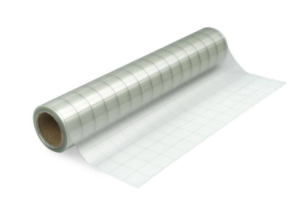 Expressions Vinyl - 12in. x 30ft. Grid-Lined Clear Transfer Tape Roll - Perfect Transfer Tape for Vinyl - Medium Tack Adhesive Application Tape Works Great with Oracal 651, 631 and Cricut Vinyl 4336883174
