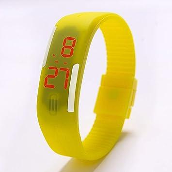 Zxzays Relojes LED para niños Fecha Pulsera Reloj de Pulsera Deportivo Digital para Estudiante Reloj Deportivo