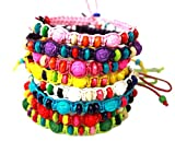 Syleia Colorful Friendship Bracelets Fashion Jewelry Set of 8 Party favors