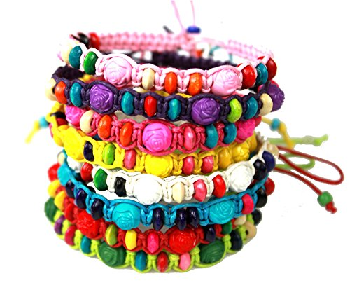Syleia Colorful Friendship Bracelets Fashion Jewelry Set of 8 Party favors]()