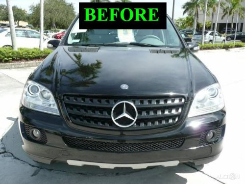 2006 2009 Mercedes Ml Chrome Grill Grille Kit W164 Ml 350 M Ml350 320 Cdi Ml320 2007 2008 06 07