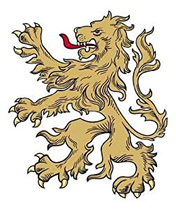 "Gold Lion - 36""H x 30""W - Peel and Stick Wall Decal by Wallmonkeys"