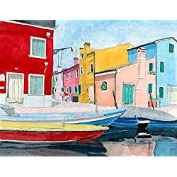Burano Italy giclee reproduction