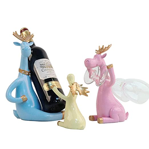 Estante decorativo de resina para vino, Porta botellas de vino ...