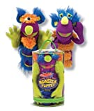 : Melissa & Doug Make-Your-Own Fuzzy Monster Puppet Kit With Carrying Case (30 pcs)