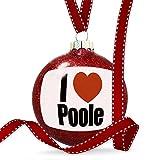 Christmas Decoration I Love Poole region: South West England, England Ornament