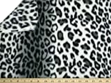 LA Linen ™ Printed Polar Fleece by the yard 58/60-Inches Wide, Leopard