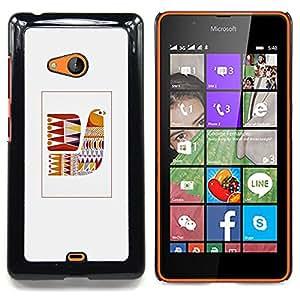 Stuss Case / Funda Carcasa protectora - Edredón gris patrón de costura - Nokia Lumia 540