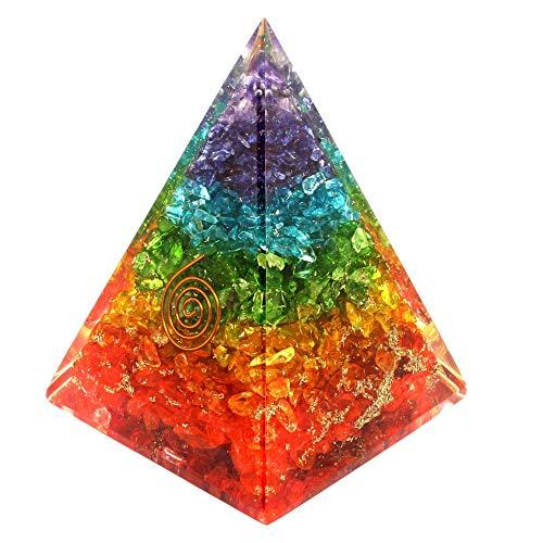 Orgone Pyramid- Nubian Orgone Energy with healing crystal Orgonite pyramid- Positive Energy Generator-EMF Protection