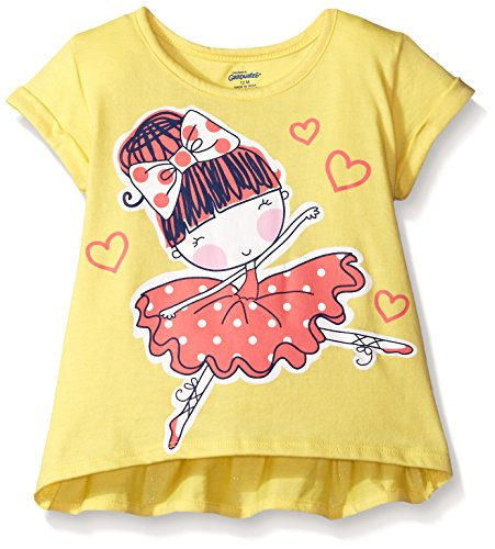Gerber Graduates Girls Short Sleeve Swing Top With Back Ruffle, Ballerina, 12 (Ballerina Swing)