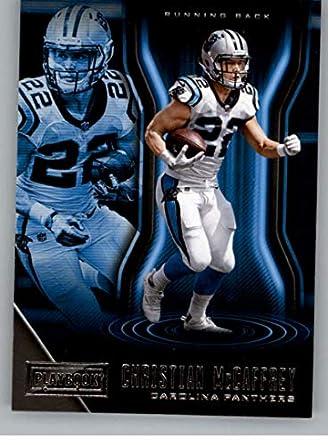 2018 Playbook Football  81 Christian McCaffrey Carolina Panthers Official  NFL Card Produced by Panini e5ae9a1da