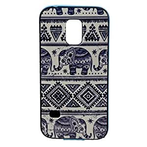qyf Elephant Pattern Back Case Cover for Samsung Galaxy S5 Mini G800