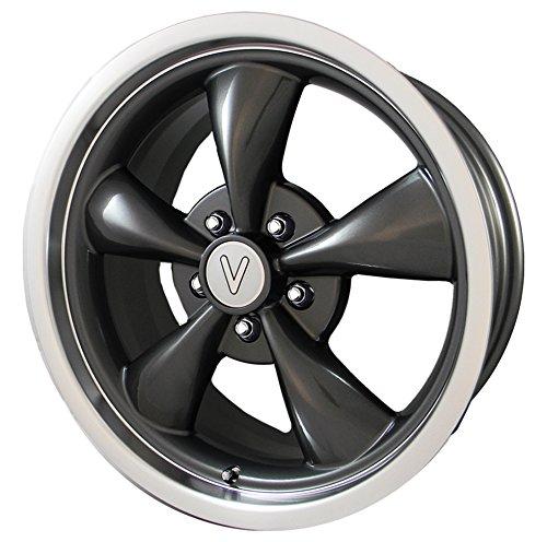 18x9 Replica Wheel (Vöxx Replica Bullet Mustang Gunmetal Wheel with Machined Lip (18x9