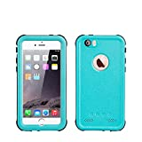 iPhone 5 5S SE Waterproof Case, IP68 Certified Waterproof Shockproof Dirtproof Snowproof Heavy Duty Protective Cover, Full Sealed Case with Built-in Screen Protector for iPhone 5 5S SE (BLUE)
