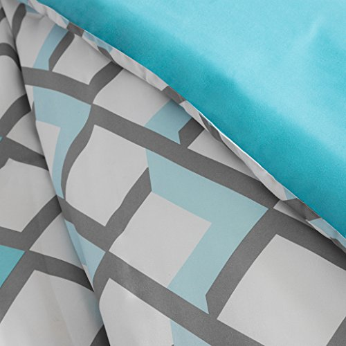 (Intelligent Design Comforter Set, Full/Queen, Blue )