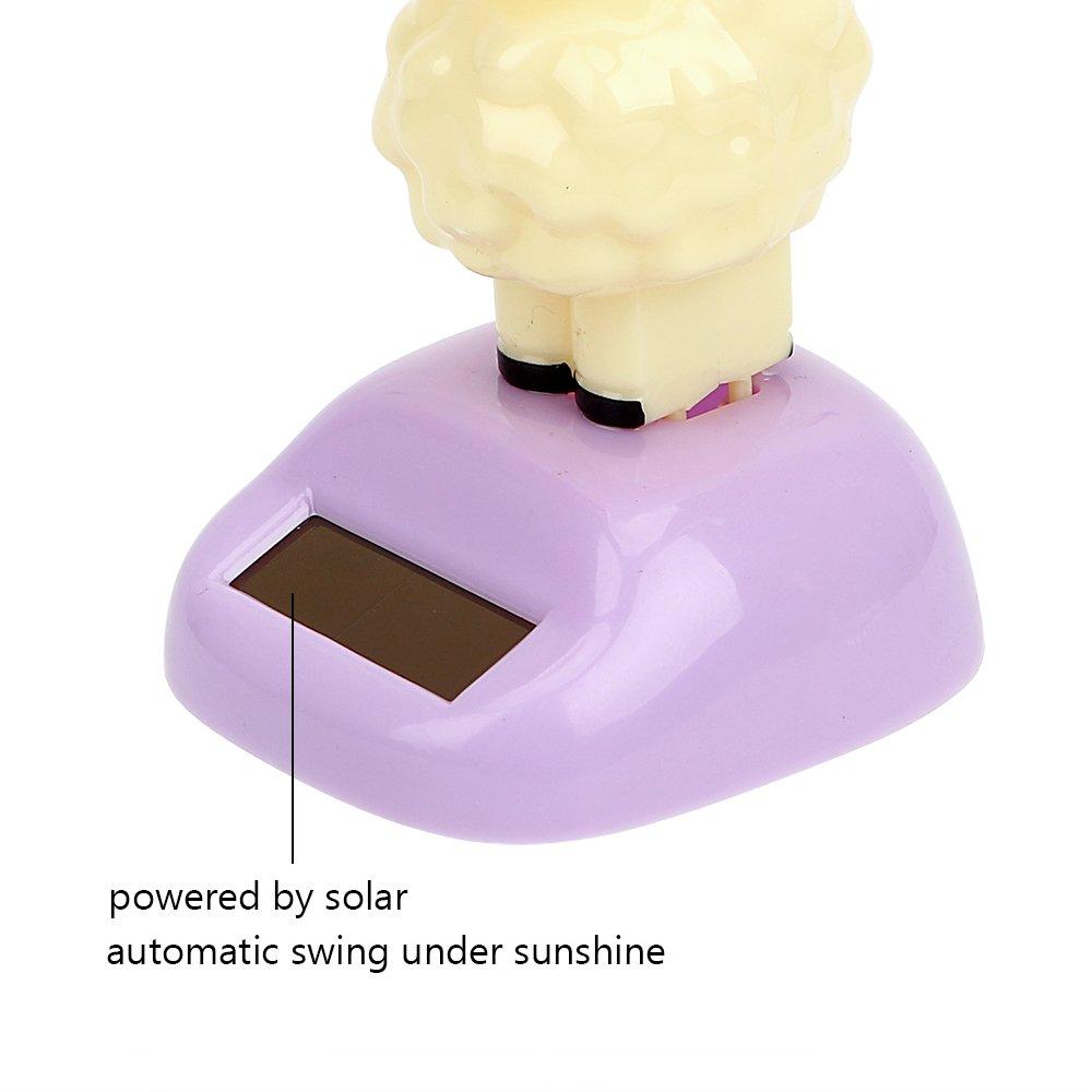 Adorno de coche para salpicadero de alpaca funciona con energ/ía solar decoraci/ón