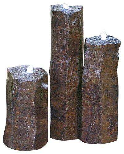 Stone Age Creations FK-BA-3 Basalt Trio Fountain Kit
