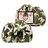 OMZER Kids Digital Cameras for 4-9 Year Old Boys,2 Inch LCD Screen Toy Video Camera Birthday Gifts for Teen boy, Festival Gift for 5-7 Years Old Boy,Camo(16GB Memory Card Included)