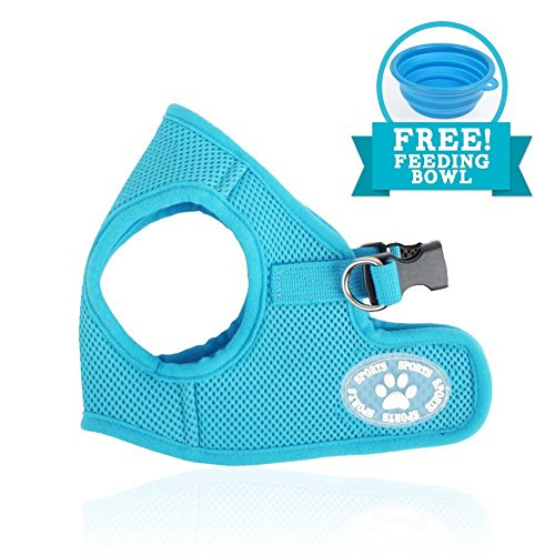 Comfy Dog Harness | Prime Polyester Adjustable Mesh Dog Puppy Pet Soft Harness Vest Include Feeding Bowl | No Pull Long Lasting Usage Pet Control | 172.5