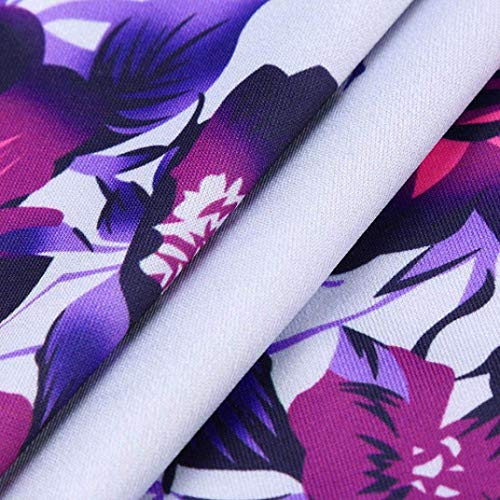 A Rotondo Ragazza Modello Tempo Fashion Sweatshirts Elegante Libero Fiore Autunno Collo Blau Tops Chic Camicetta Lunghe Jumper Donna Shirts Primaverile Camicia Blouse Felpe Maniche WqBTXvO