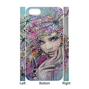 Iphone 4,4S Oil painting 3D Art Print Design Phone Back Case Customized Hard Shell Protection DFG034325